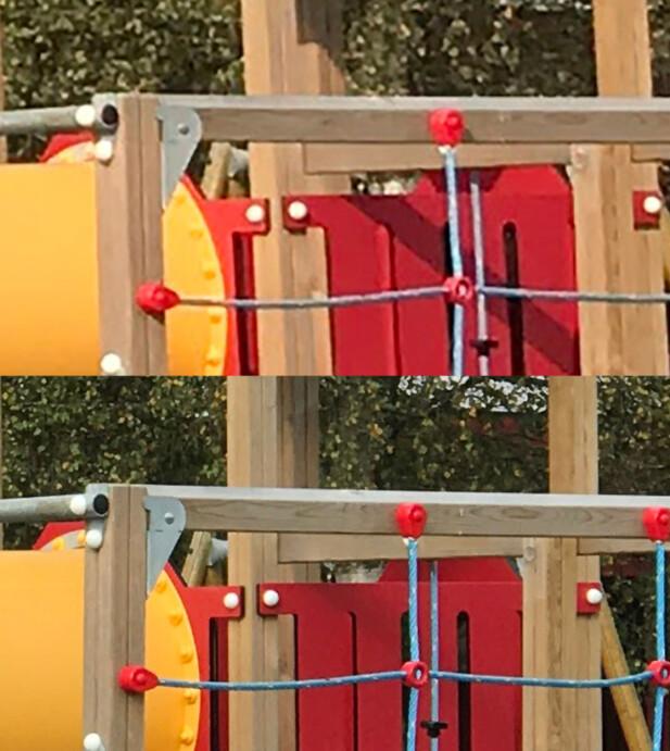 I godt lys får vi flere detaljer i bildene når vi bruker kameraet med lengst brennvidde – som forventet.