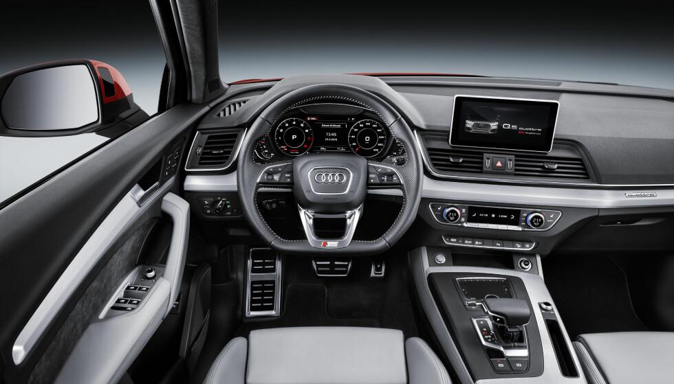TYPISK AUDI: Med generasjonsskiftet følger også den nyeste Audi-teknologien som Virtual Cockpit med digitalt instrumentpanel, kjent fra Audi TT, A4 og Q7. Foto: Audi
