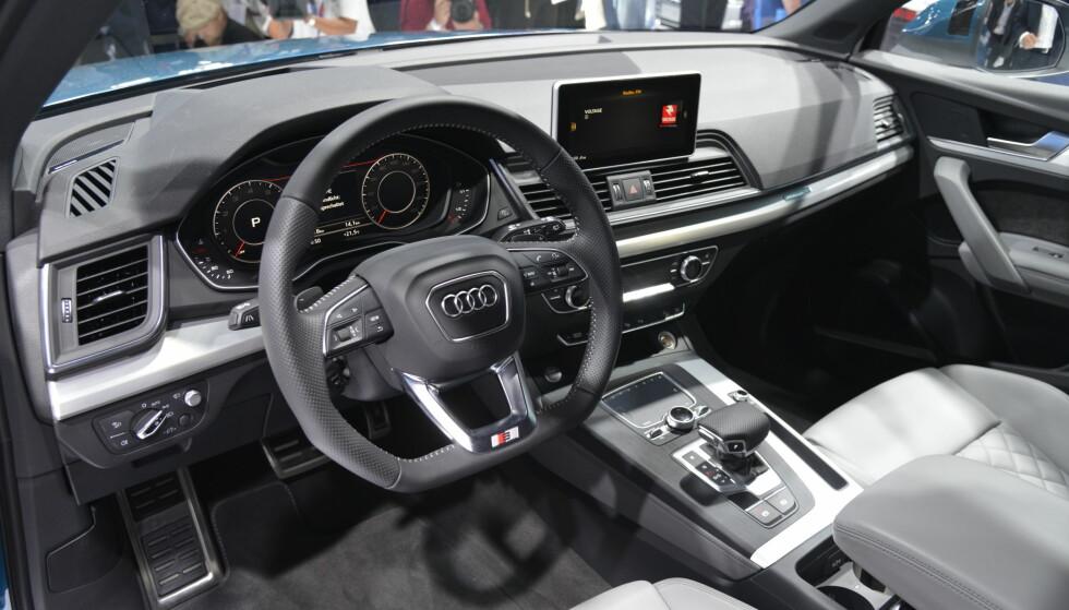 DIGITALT: Nye Q5 får Virtual Cockpit, som de andre nye Audiene siden TT. Foto: Jamieson Pothecary