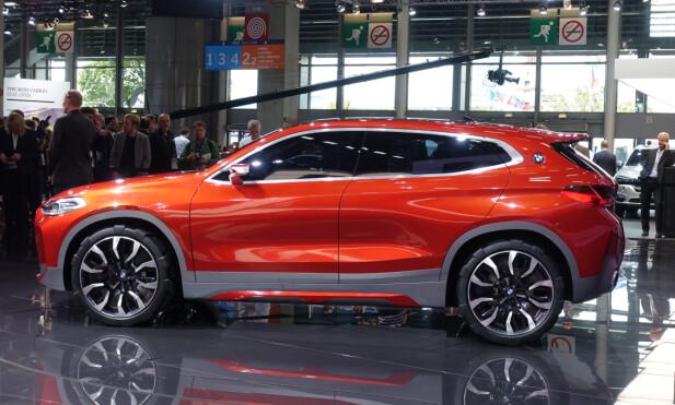RØFT SPORTY: BMW X2 vises i disse dager som konseptbil i Paris. Regn med produksjonsbil fra 2018. Foto: Fred Magne Skillebæk