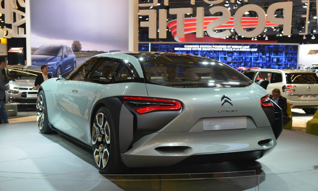 AERODYNAMISK: Den nye storbilen til Citroën ser både autonom og autofil ut. Foto: Jamieson Pothecary