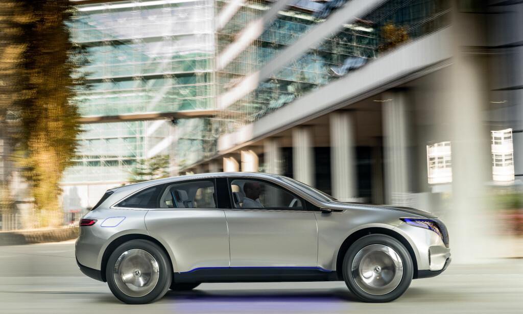 TAR OPP KAMPEN: Mercedes Generation EQ får nok av elektriske SUV-er å bryne seg mot. Foto: Mercedes-Benz