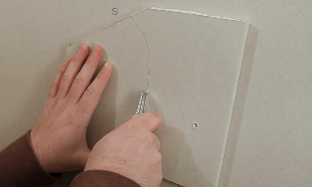 LAG EN BIT: Biten bør være en god del større enn hullet. Foto: Simen Søvik
