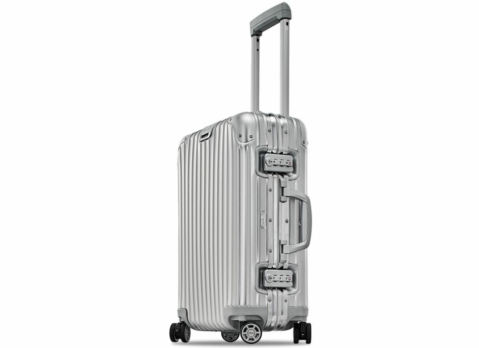DYR OG DÅRLIG: Denne kofferten fra toppmerket Rimowa falt igjennom i testen, selv om den var desidert dyrest med en prislapp på nærmere 6.000. Foto: Rimowa
