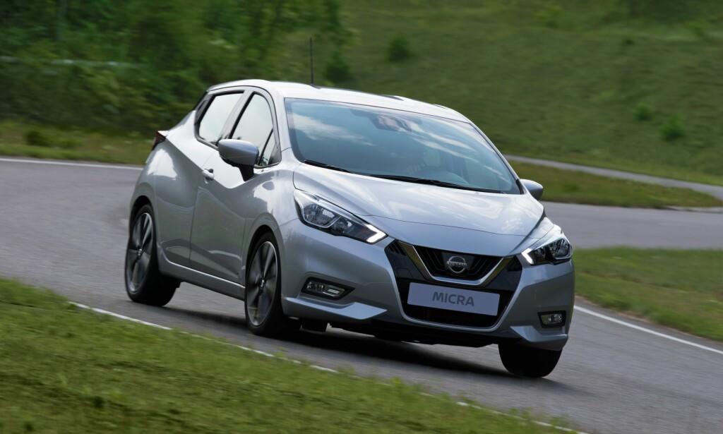 SPENSTIG: Med ny elektronikk for kontroll på både hjuloppheng og styring, lover Nissan kjøreegenskaper som står i stil til den spreke designen for nye Micra. Foto: Nissan