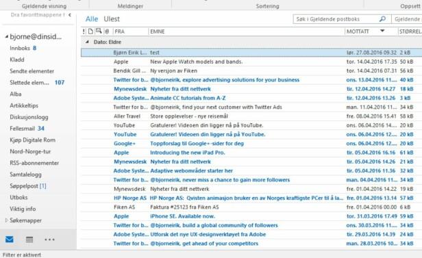 Får du masse e-poster?Da bør du tilpasse Outlook-innboksen din