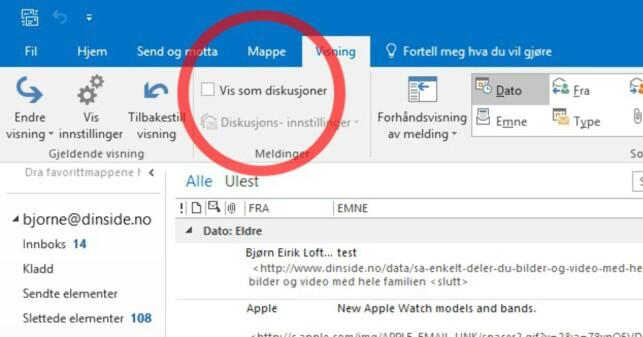 image: Får du masse e-poster?Da bør du tilpasse Outlook-innboksen din