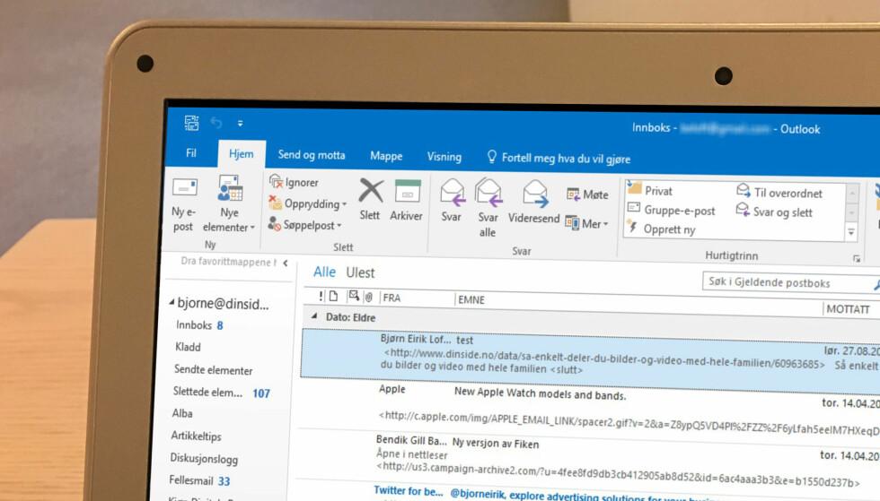 <strong>MER OVERSIKTLIG OUTLOOK:</strong> Innboksen i Outlook 365 kan fortone seg som rotete. Med små grep kan den bli langt mer oversiktlig. Foto: Bjørn Eirik Loftås&nbsp;