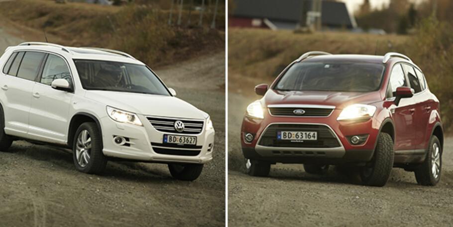 POPULÆRE: Både VW Tiguan og Ford Kuga er gode valg på bruktbilmarkedet. Foto: Autofil