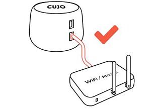ENKELT: Cojo installeres mellom nettinntaket og ruteren din.