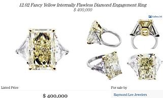 FORLOVELSESRING: Diamantringer til 400.000 dollar finner man ikke på Finn.no.