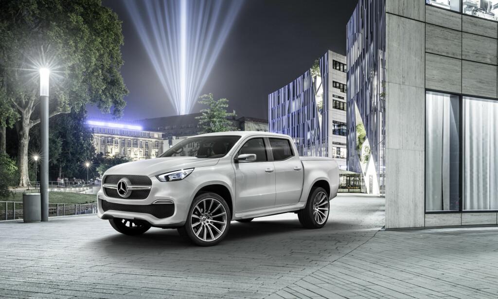 STORE FORSKJELLER: Mercedes-en skiller seg kraftig fra sitt opphav, Nissan Navara. Foto: Mercedes-Benz