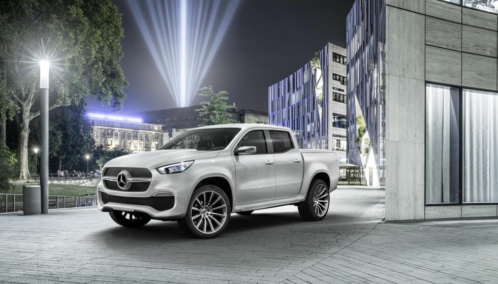 <strong>STORE FORSKJELLER:</strong> Mercedes-en skiller seg kraftig fra sitt opphav, Nissan Navara. Foto: Mercedes-Benz&nbsp;