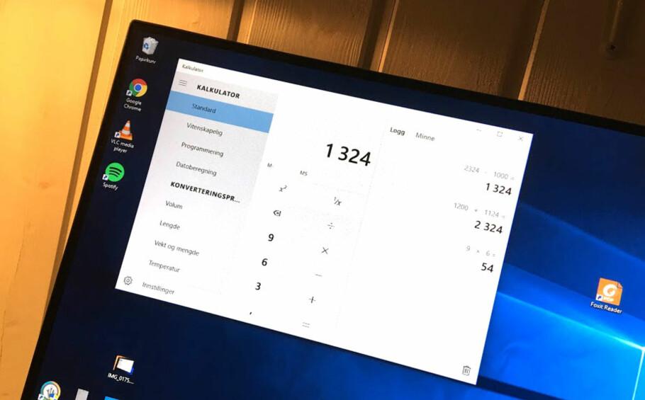 YPPERLIG VERKTØYKASSE: Kalkulatoren i Windows 10 kan langt mer enn du først skulle tro. Foto: Bjørn Eirik Loftås