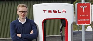 - INGEN KOMMENTAR: Kommunikasjonssjef Even Sandvold Roland er ikke veldig snakkesalig om den nye elbilen som kan bestilles nå. Foto: NTB Scanpix