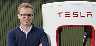 <strong>- INGEN KOMMENTAR:</strong> Kommunikasjonssjef Even Sandvold Roland i Tesla Norge henviser til Teslas hjemmesider for informasjon om Roadster 2. Foto: Henrik Skolt / NTB scanpix