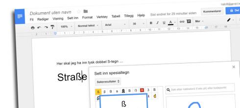 Google lar deg tegne tegnet du vil bruke
