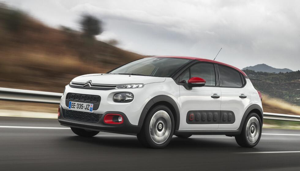 STILFULL: Nye Citroën C3 skiller seg klart ut, blant annet med detaljer fra slektningen Cactus. Foto: Citroën