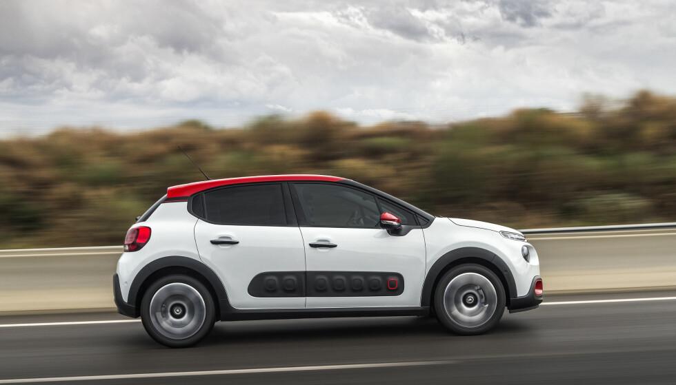 SMART ELLER TEIT?: Fenderne på sidene skal ta imot for de verste parkeringsbulkene. Foto: Citroën