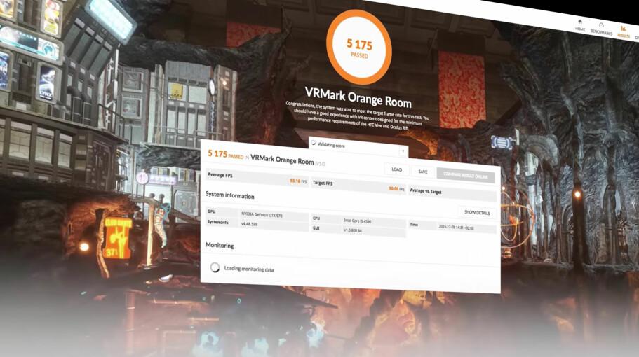 MÅLER PC-EN: VRMark lar deg finne ut om PC-en din er raskt nok til å bruke HTC Vive og Oculus Rift. Foto: Futuremark