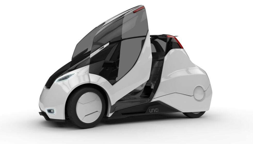 SKALLET: Foreløpig har bilen kun vært å kjøre i Virtual Reality (VR), men prototypen skal etter sigende være klar i 2017. Foto: Uniti Sweden AB