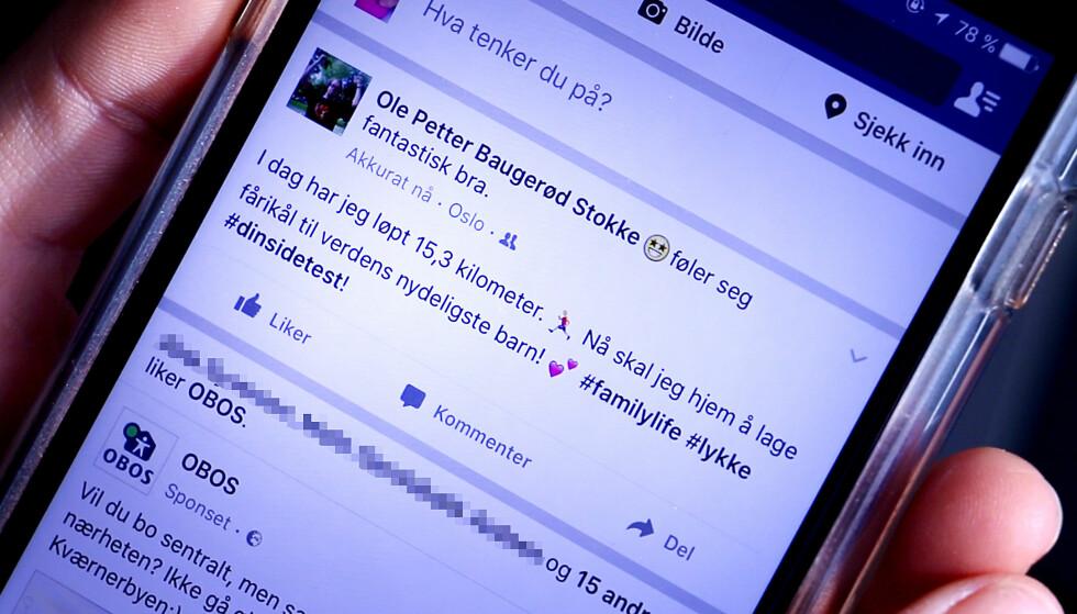 FACEBOOK: Uansett hva du mener er plagsomt på Facebook, kan du enkelt slippe unna. Foto: Ole Petter Baugerød Stokke.