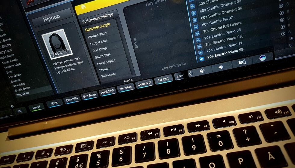 PÅ SKJERMEN: Har du en eldre Mac, kan du nå prøve Touch bar-funksjonaliteten direkte på skjermen med gratisappen Touché. Foto: Pål Joakim Pollen
