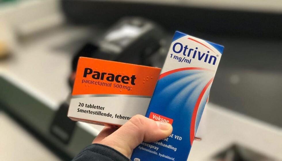 BARE ÉN NESESPRAY ELLER PARACET: Du kan ikke kjøpe mer enn én pakke av hver medisin - hvis de inneholder samme virkestoff. Foto: Hanna Sikkeland