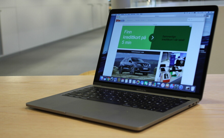 LEKKER: Apple Macbook Pro har blitt tynnere enn forgjengeren, men det har gått på bekostning av inn- og utgangene. Foto: Pål Joakim Pollen
