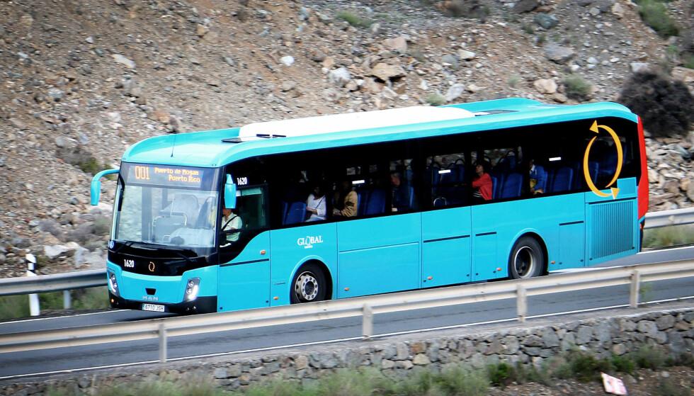 5,95 EURO: Det er ingenting å si på prisen om du ordner transport til sørlige deler av Gran Canaria på egenhånd. Foto: Ole Petter Baugerød Stokke