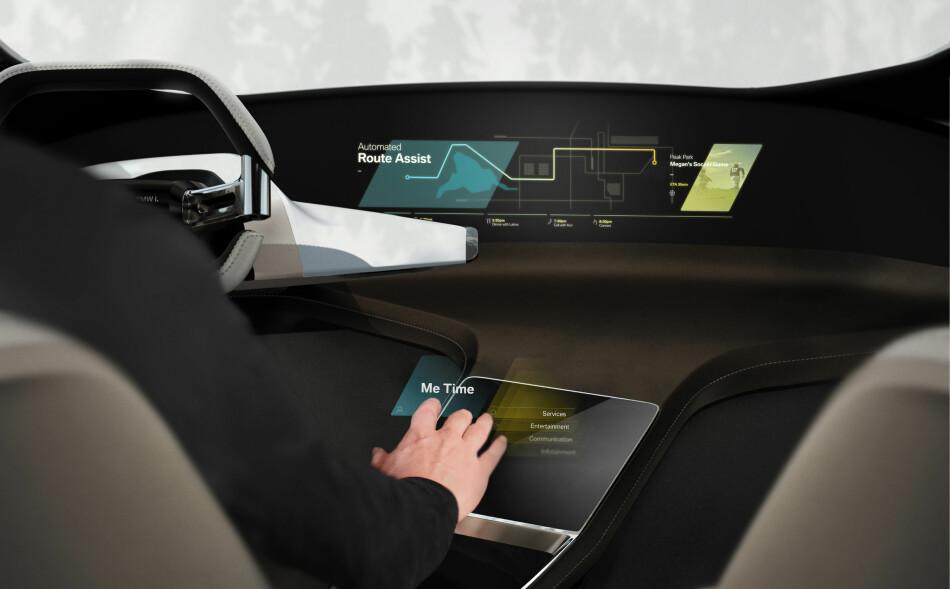 RASK UTVIKLING: Slik illustrerer BMW hvordan Halo Active Touch fungerer.