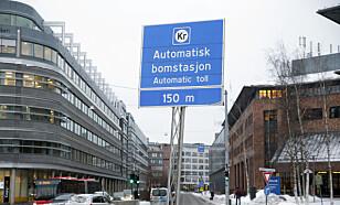 KRONERULLING: Dette skiltet blir stadig mer synlig langs norske veier. Foto: Vidar Ruud / NTB scanpix