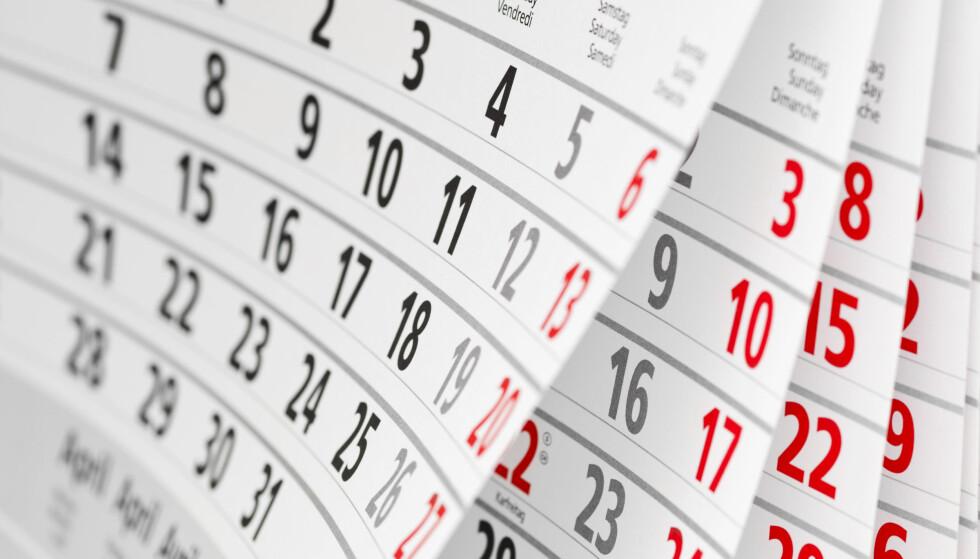 START PLANLEGGINGEN NÅ: For å få maks ut av kombinasjonen høytids- og helligdager og dine tilmålte feriedager, bør du starte planleggingen allerede nå. Foto: Shutterstock/NTB Scanpix