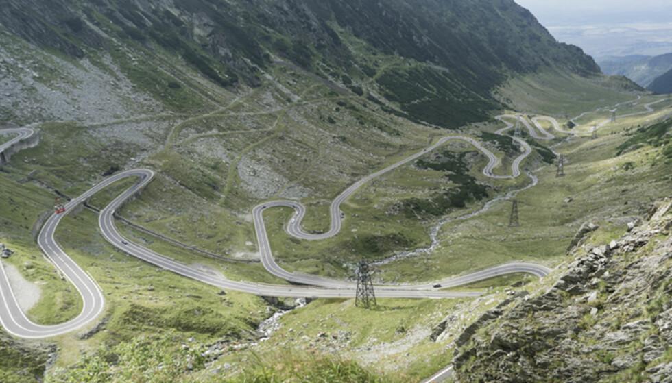 CLARKSON_FAVORITT: Transfagarasan er en veistrekning på 90 kilomter, kanskje mest kjent fra Top Gear, og er kanskje en av verdens mest kjente veistrekninger.  Foto: Torkild Bredesen / Peter Byng