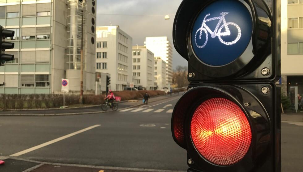 NYTT I NORGE: Nå kommer lyskryssene for gående og syklister. Foto: Øystein Fossum