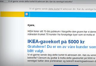 Ikea advarer mot svindelkampanjer