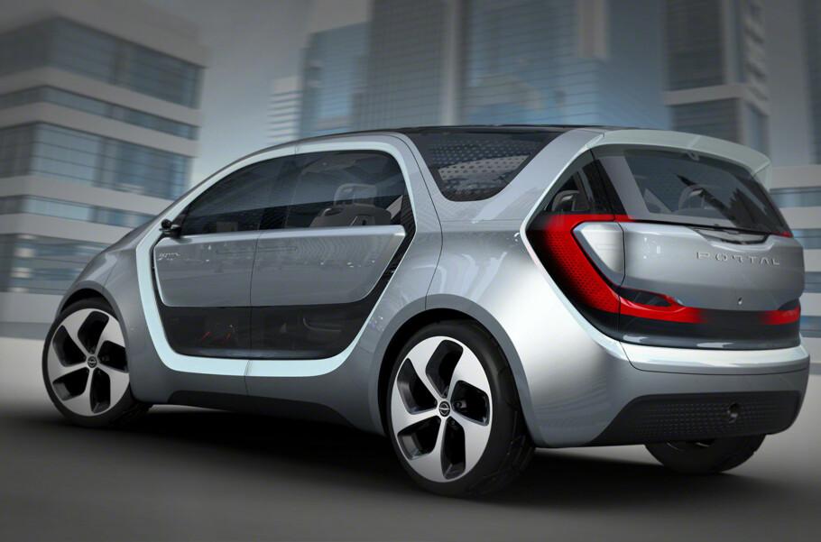 LITEN, MEN STOR: Chrysler Portal har tre meter akselavstand. Mellom der ligger batteriene. Foto: Chrysler