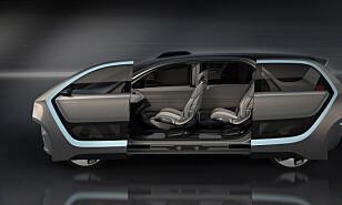 Store dører: Portal har to skyvedører på hver side, og får på den måten markedets største døråpning. Foto: Chrysler