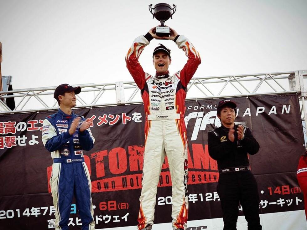 SERIE-VINNER: Etter mange ganger på pallen verden over, smakte det godt å dra inn totalseier for Formula Drift Asia.