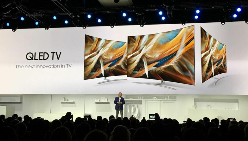 QLED: Selv om mye handler om Oled for tiden, videreutvikles LCD fortsatt. Samsungs QLED-TV-er er et godt eksempel på at det er for tidlig å pensjonere teknologien ennå. Foto: Bjørn Eirik Loftås