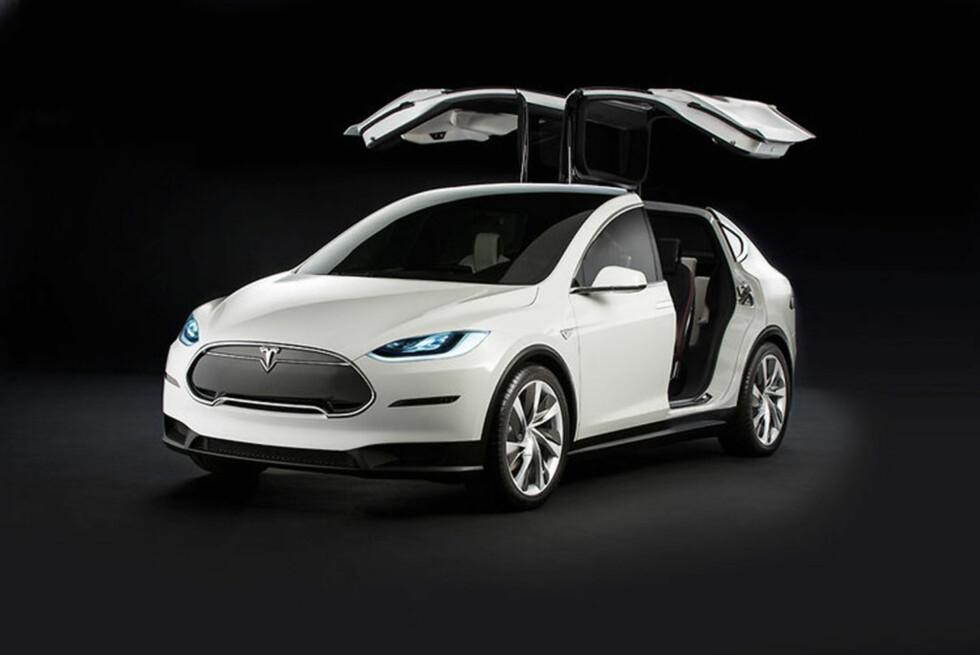 Model X vil bli bygget på samme plattform som Model S, men vil få et nytt firehjulstrekksystem. Foto: Tesla Motors