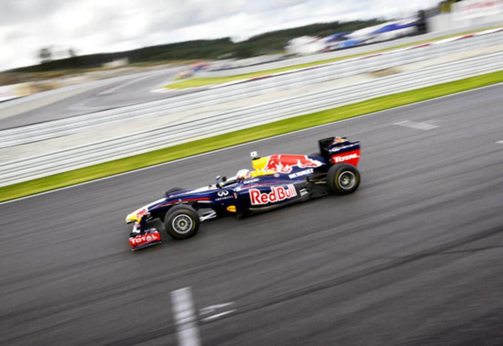 Red Bull satte tiden 1:10,020 under fjorårets Rudskogen Motorfestival. Vil Ferrari greie å slå dette? Foto: Stein Inge Stølen