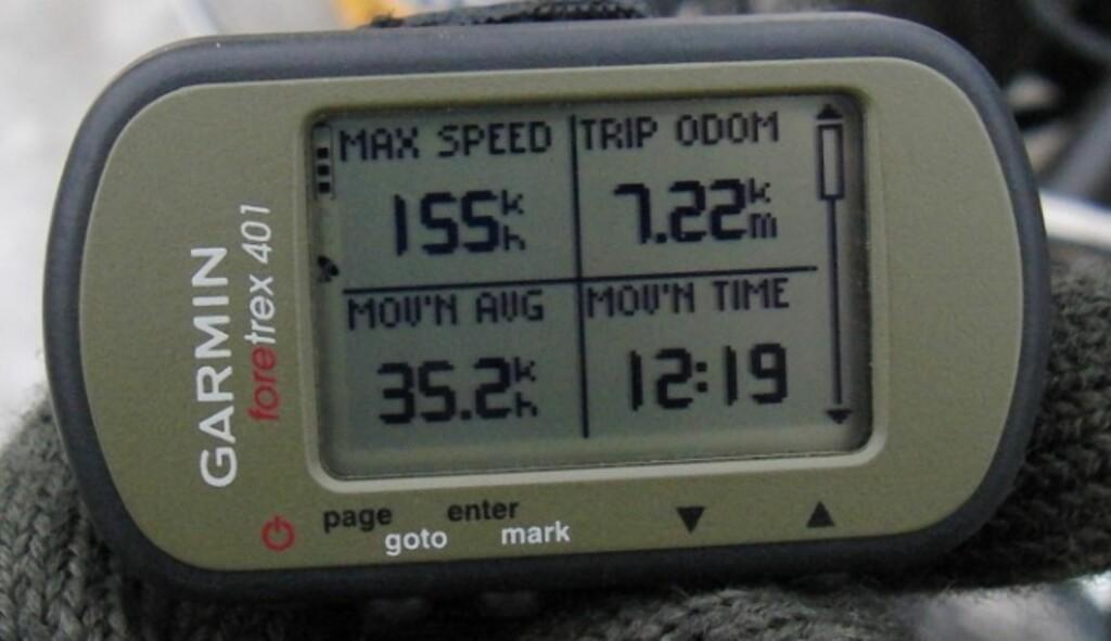 155 kilometer i timen på is, med en jetmotor i ryggen. Ikke dårlig! Foto: Svarthålet Racing