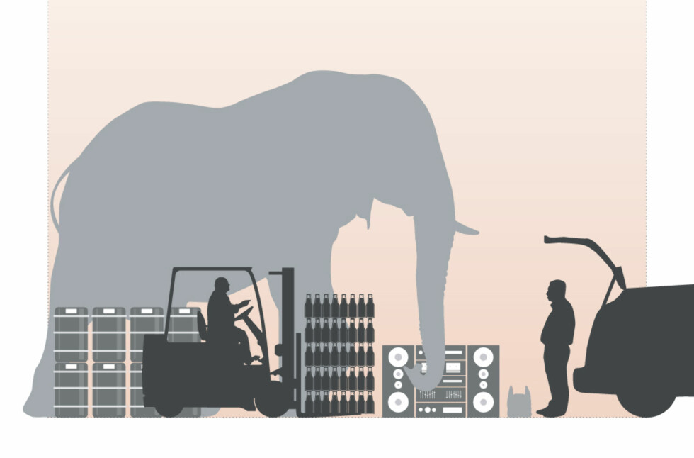 Har du en elefant i bagasjerommet? Nei, sier du. Det kan hende du tar feil... Foto: Jamieson Pothecary