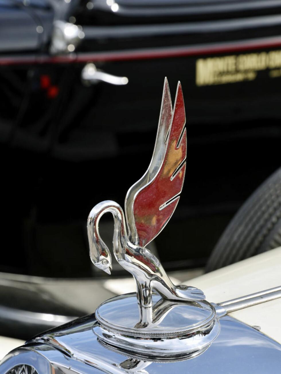 Grasiøst og elegant, kan vel dette ornamentet kalles. Står på en 1932-modell Packard. Eier: Rune Aschim. Foto: Stein Inge Stølen