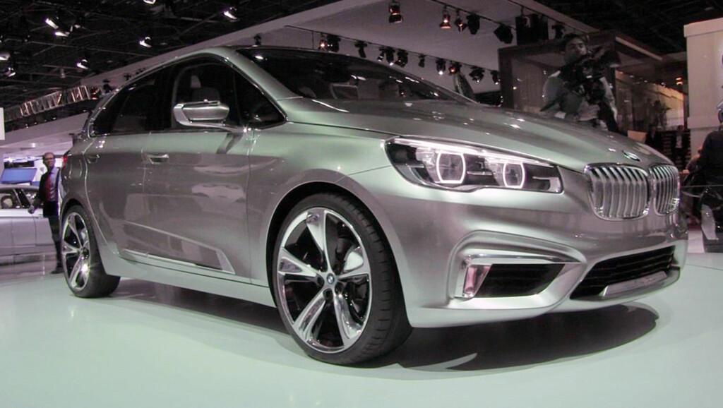 BMW Active Tourer setter spikeren i kista på BMWs bakhjulsdrift. Den forhjulsdrevne flerbruksbilen setter standarden for merkets profil i tiden som kommer. Foto: Stein Inge Stølen