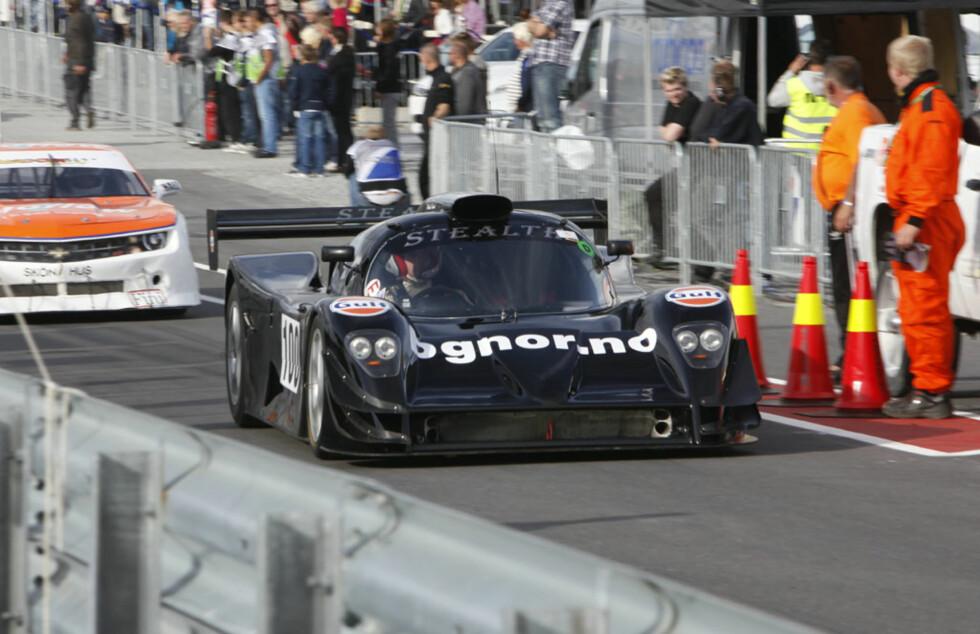 Den forrige banerekorden ble satt av Christer Gislerud i denne bilen, en spinnvill Stealth B6. Foto: Espen Stensrud