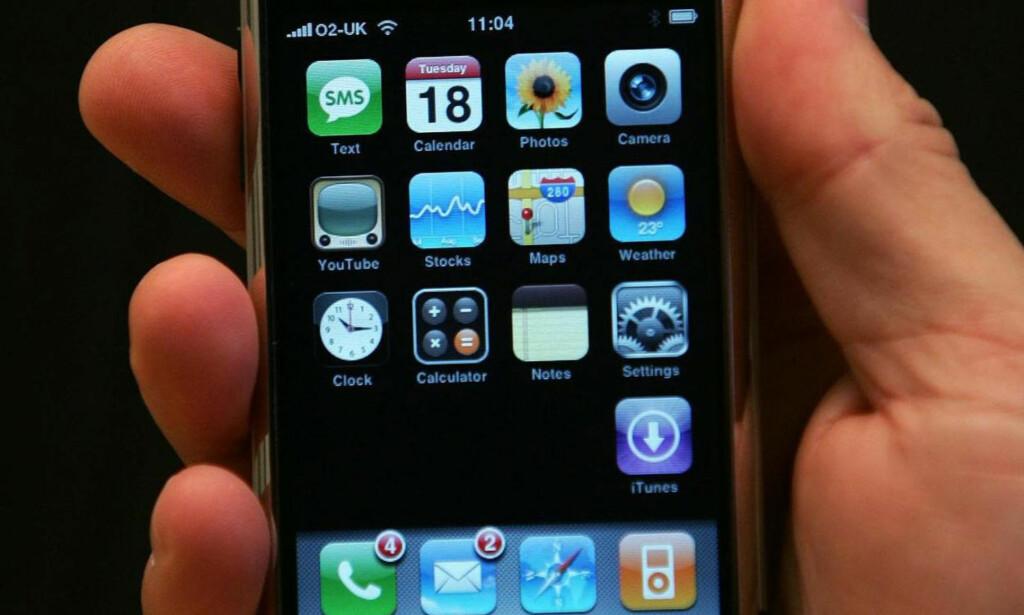 10 ÅR SIDEN: 9. januar 2007 ble iPhone vist frem første gang. Det er ti år siden i dag. Foto: Cathal Mcnaughton / PA Photos / NTB Scanpix