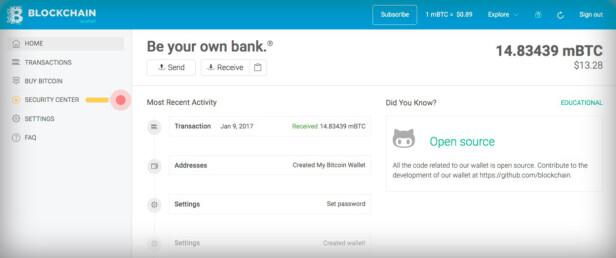 Det finnes flere nettbaserte tilbydere av bitcoin-lommebøker. Da kan du få tilgang til bitcoin-beholdningen fra en hvilken som helst enhet, men du må samtidig stole på en tredjepart. Skjermdump: Pål Joakim Pollen