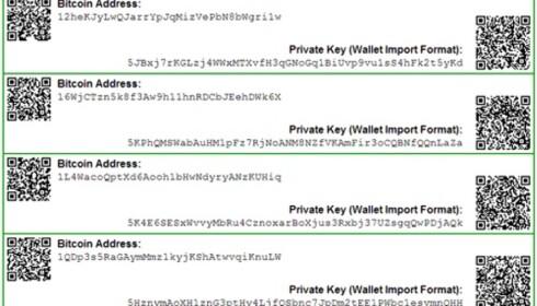 PÅ PAPIR: Det enkle er ofte det beste – du kan godt skrive ut bitcoin-adresser og private nøkler på et papirark.